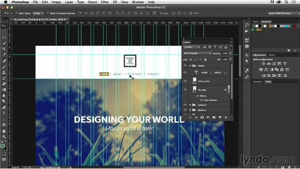 Creating a developer-friendly file: Photoshop CC for Web Design