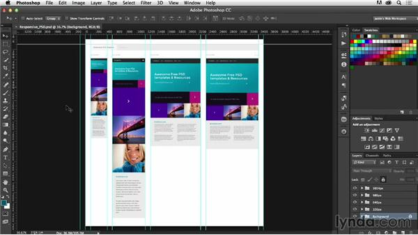 Creating responsive templates in Photoshop