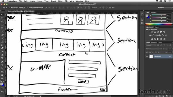 Creating a sketch: Photoshop CC for Web Design