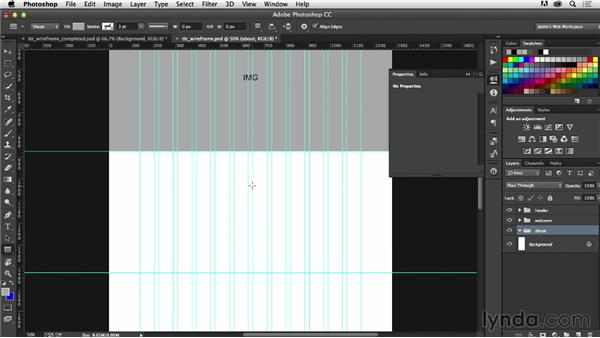 Building your wireframe with shapes and text: Photoshop CC for Web Design