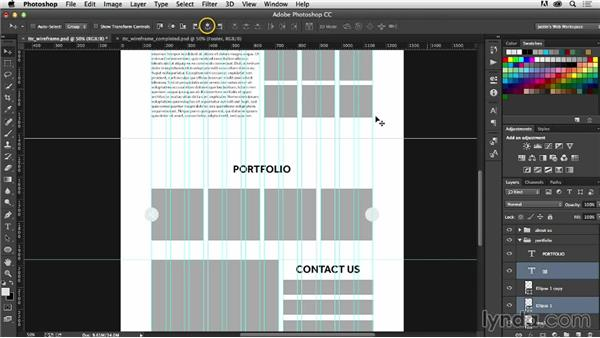 Adding UI elements to your wireframe: Photoshop CC for Web Design