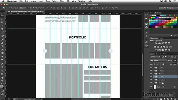 Saving UI elements as shapes: Photoshop CC for Web Design