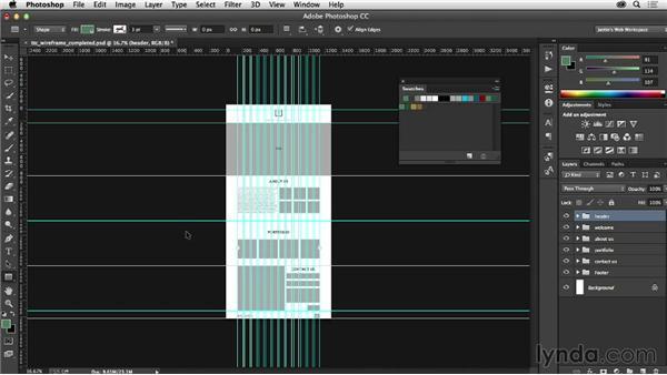Applying your color scheme: Photoshop CC for Web Design
