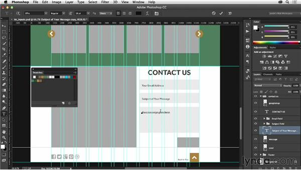 Styling input areas: Photoshop CC for Web Design