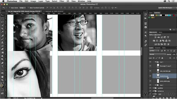 Adding images to your mockup: Photoshop CC for Web Design