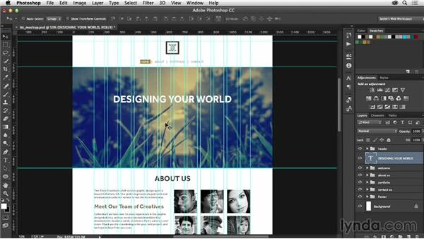 Adding the finishing touches to your design: Photoshop CC for Web Design