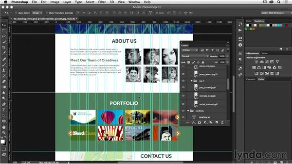 how to make web design in photoshop