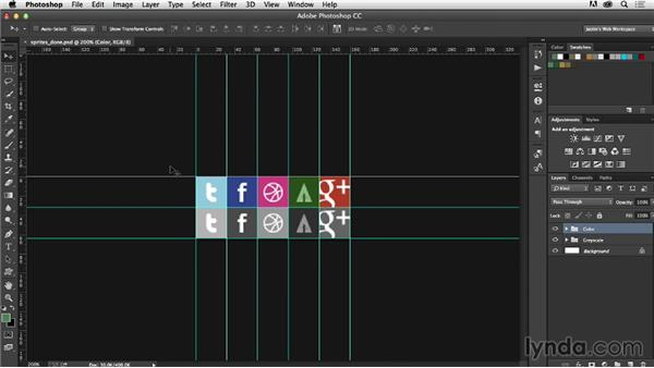 What is an image sprite?: Photoshop CC for Web Design