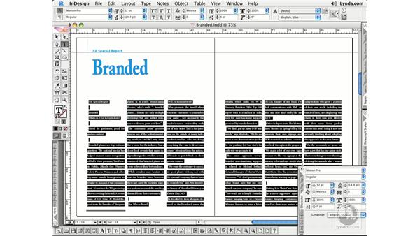Font Overview: InDesign CS2 Essential Training