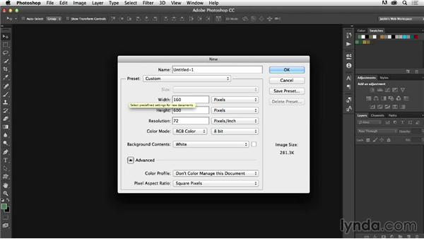 Developing a sprite grid: Photoshop CC for Web Design