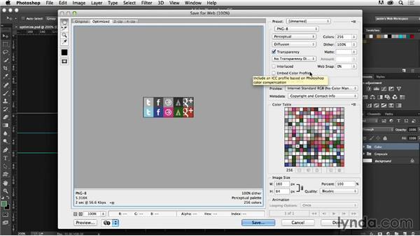 Optimizing sprite images