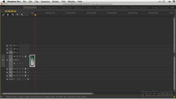 Voiceover recording: Premiere Pro: Creative Cloud Updates
