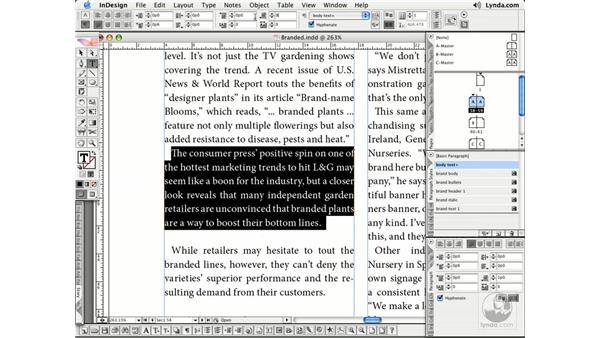 Paragraph Formatting: InDesign CS2 Essential Training