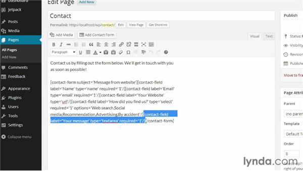 Understanding the Jetpack Contact Form shortcodes: WordPress Plugins: Contact Forms