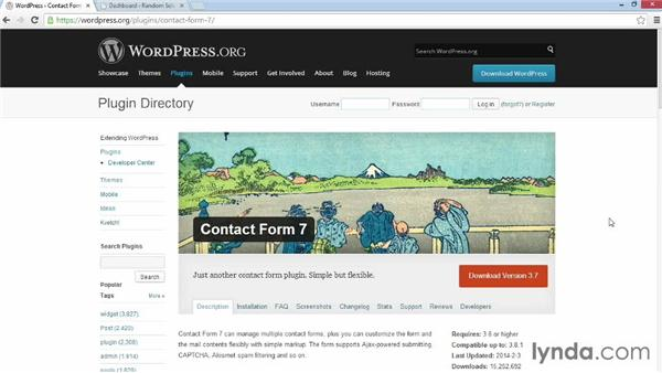 Getting and installing Contact Form 7: WordPress Plugins: Contact Forms