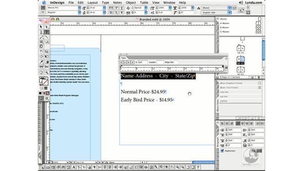 Tabs: InDesign CS2 Essential Training