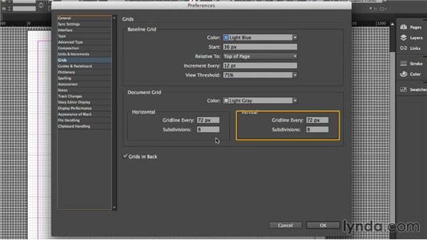 Using a grid: UX Design Tools: InDesign