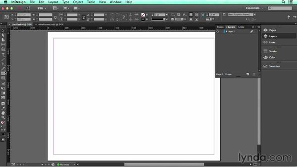 Creating rectangles: UX Design Tools: InDesign