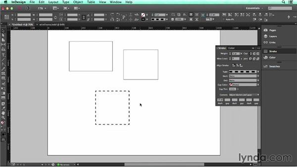 Adjusting the appearance of shapes: UX Design Tools: InDesign