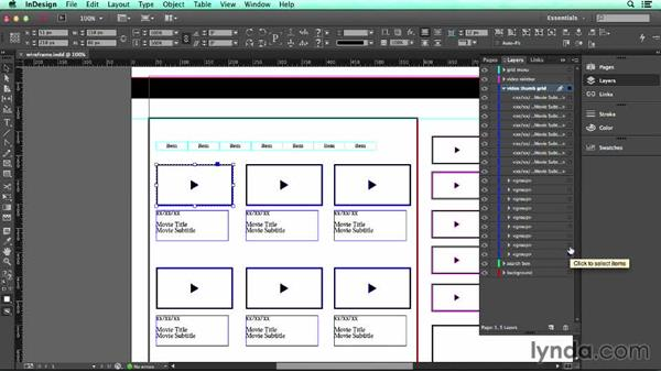 Using the Layers panel: UX Design Tools: InDesign