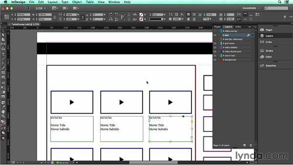 Creating text frames: UX Design Tools: InDesign