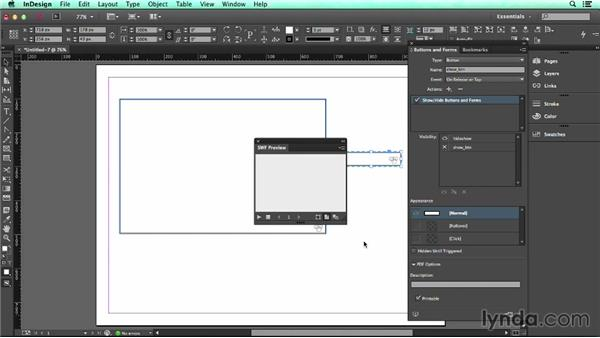 Hiding and showing content with buttons: UX Design Tools: InDesign