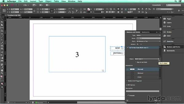 Using multistate objects: UX Design Tools: InDesign
