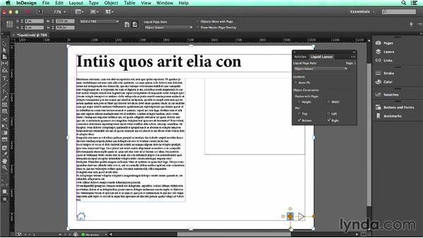 Using Liquid Layout: UX Design Tools: InDesign