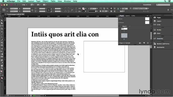 Using master pages: UX Design Tools: InDesign