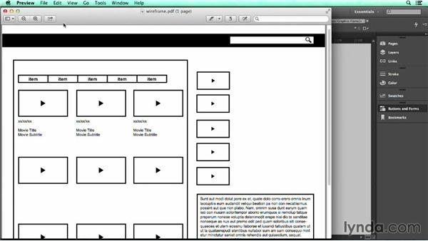 Export to interactive PDF: UX Design Tools: InDesign