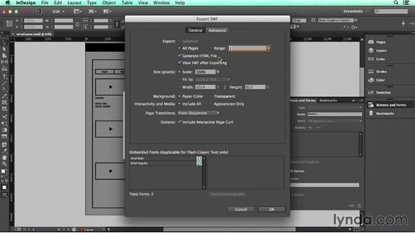 Export to SWF: UX Design Tools: InDesign