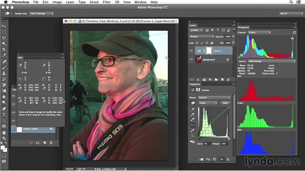 Project two: Correcting a portrait image with an extreme color cast: Photoshop Color Correction: Advanced Projects