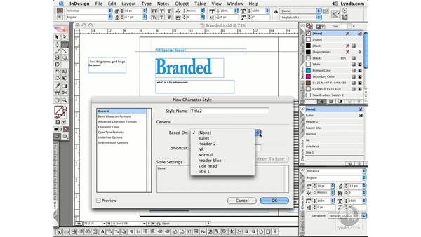 Character Styles: InDesign CS2 Essential Training