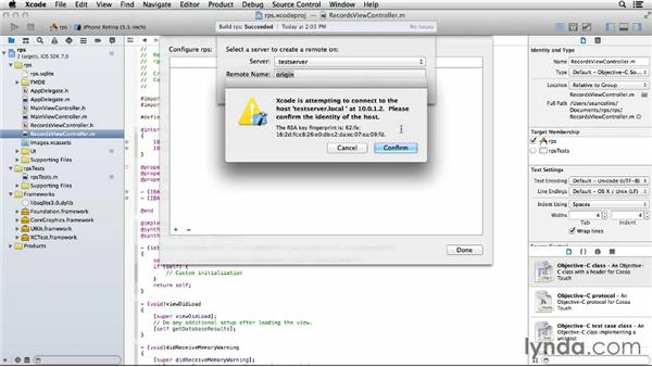 Configuring Xcode 5 to use your server: Up and Running with OS X Server App