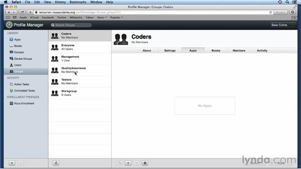 Managing books and apps on devices over the air: Up and Running with OS X Server App