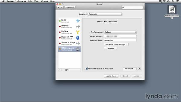 Connecting to VPN from a Mac or iOS: Up and Running with OS X Server App
