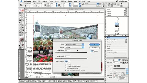 Clipping Paths: InDesign CS2 Essential Training