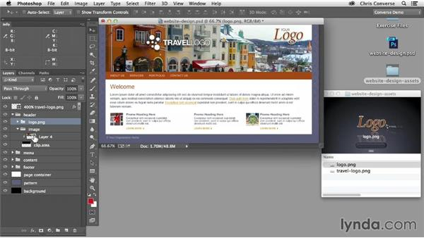 Generate composite images from multiple layers: Design the Web: Adobe Generator for Graphics