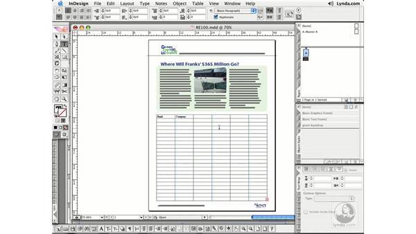 Creating Tables: InDesign CS2 Essential Training