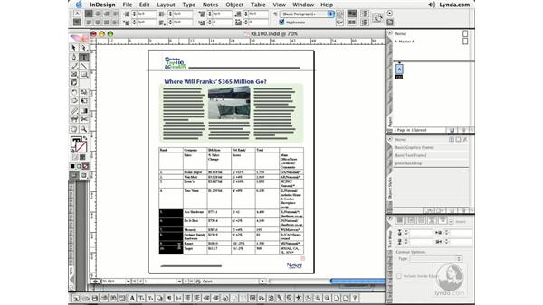 Table Selections: InDesign CS2 Essential Training