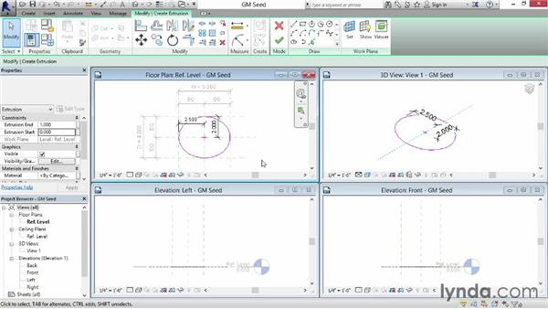 Creating ellipses: Revit: Family Curves and Formulas