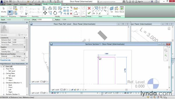 Adding geometry to work planes: Revit: Family Curves and Formulas
