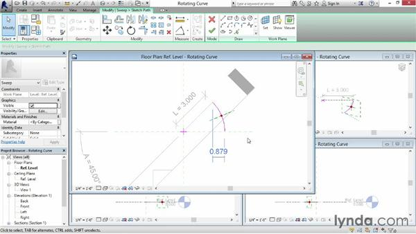 Rotating a curve: Revit: Family Curves and Formulas