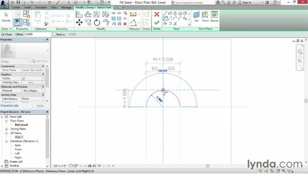 Working with segmental arches: Revit: Family Curves and Formulas