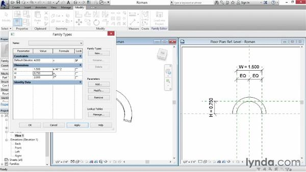 Creating Roman- and Moorish-style arches: Revit: Family Curves and Formulas