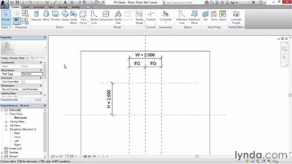 Creating the framework for a Gothic-style arch: Revit: Family Curves and Formulas