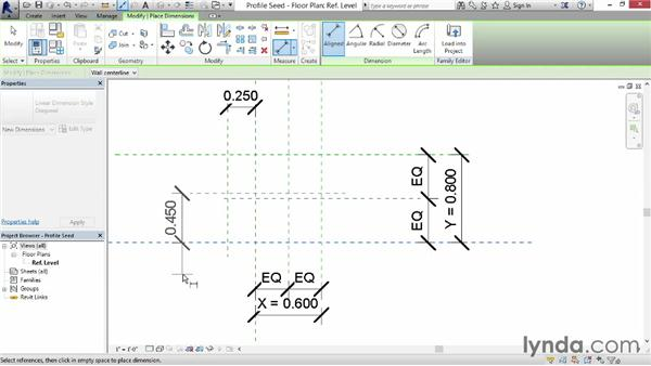 Building profile references for a cyma curve: Revit: Family Curves and Formulas