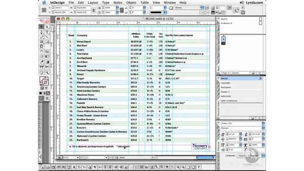 Fixing Table Oversets: InDesign CS2 Essential Training