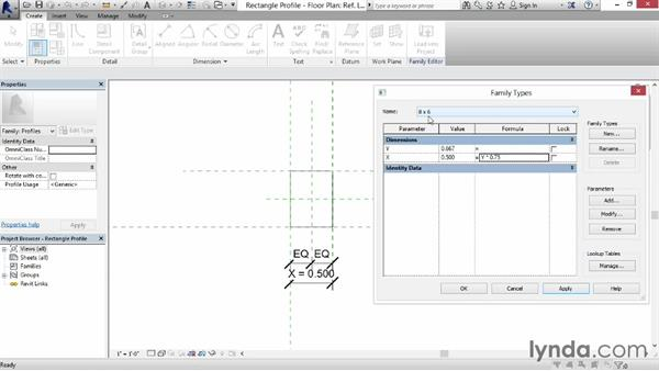 Using fixed proportion and scaling: Revit: Family Curves and Formulas