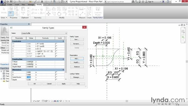 Combining scale and proportion: Revit: Family Curves and Formulas